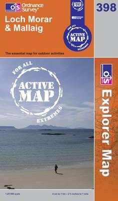 Loch Morar and Mallaig - OS Explorer Map Active Sheet 398 (Sheet map, folded)
