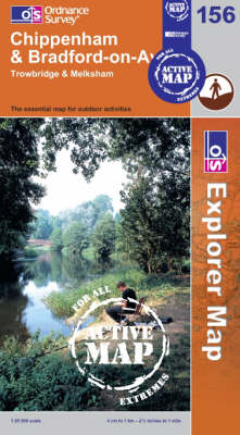 Chippenham and Bradford-on-Avon - OS Explorer Map Active Sheet 156 (Sheet map, folded)
