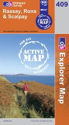 Raasay, Rona and Scalpay - OS Explorer Map Active Sheet 409 (Sheet map, folded)