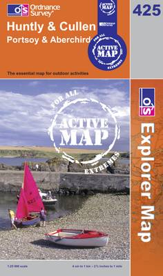 Huntly and Cullen - OS Explorer Map Active Sheet 425 (Sheet map, folded)