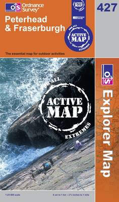 Peterhead and Fraserburgh - OS Explorer Map Active Sheet 427 (Sheet map, folded)