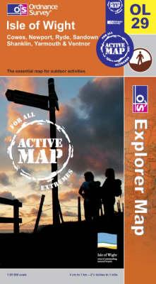 Isle of Wight - OS Explorer Map Active Sheet  OL29 (Sheet map, folded)