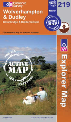 Wolverhampton and Dudley - OS Explorer Map Active Sheet 219 (Sheet map, folded)