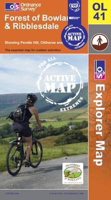 Forest of Bowland and Ribblesdale - OS Explorer Map Active Sheet OL41 (Sheet map, folded)