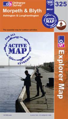 Morpeth and Blyth - OS Explorer Map Active Sheet 325 (Sheet map, folded)