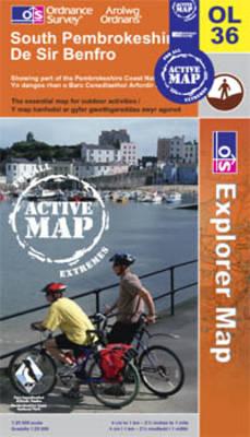 South Pembrokeshire - OS Explorer Map Active Sheet OL36 (Sheet map, folded)