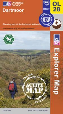 Dartmoor - OS Explorer Map Active Sheet OL28 (Sheet map, folded)
