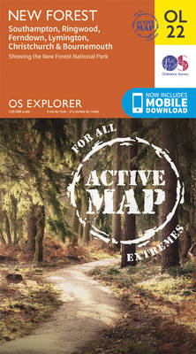 New Forest, Southampton, Ringwood, Ferndown, Lymington, Christchurch and Bournemouth - OS Explorer Map Active OL 22 (Sheet map, folded)