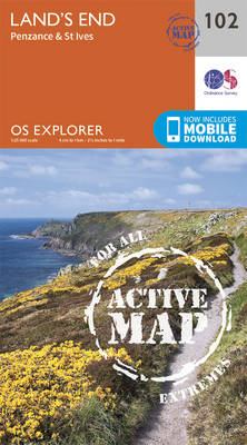 Land's End, Penzance and St Ives - OS Explorer Map 102 (Sheet map, folded)