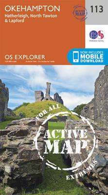 Okehampton - OS Explorer Map 113 (Sheet map, folded)