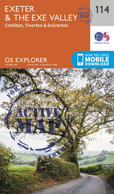 Exeter and the Exe Valley - OS Explorer Map 114 (Sheet map, folded)