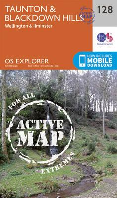 Taunton and Blackdown Hills - OS Explorer Map 128 (Sheet map, folded)