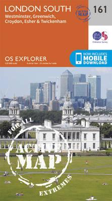 London South, Westminster, Greenwich, Croydon, Esher & Twickenham - OS Explorer Map 161 (Sheet map, folded)