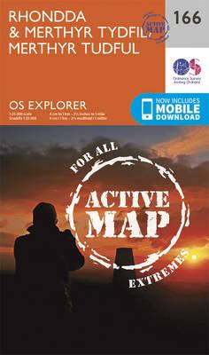 Rhondda and Merthyr Tydfil - OS Explorer Map 166 (Sheet map, folded)