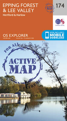 Epping Forest & Lee Valley - OS Explorer Map 174 (Sheet map, folded)