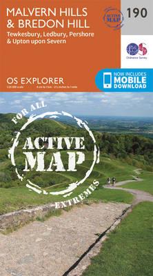Malvern Hills and Bredon Hill - OS Explorer Map 190 (Sheet map, folded)