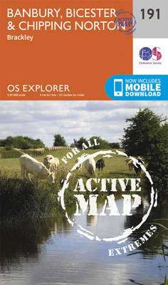 Banbury, Bicester and Chipping Norton - OS Explorer Map 191 (Sheet map, folded)