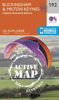 Buckingham and Milton Keynes - OS Explorer Map 192 (Sheet map, folded)