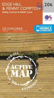 Edge Hill and Fenny Compton - OS Explorer Map 206 (Sheet map, folded)