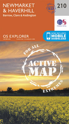 Newmarket and Haverhill, Barrow, Clare and Kedington - OS Explorer Map 210 (Sheet map, folded)