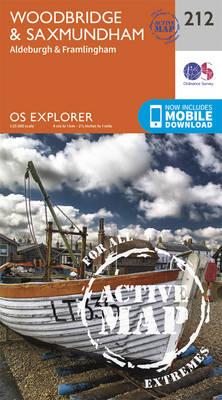 Woodbridge and Saxmundham - OS Explorer Map 212 (Sheet map, folded)
