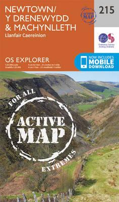 Newtown, Llanfair Caereinion - OS Explorer Map 215 (Sheet map, folded)