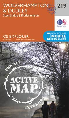 Wolverhampton and Dudley, Stourbridge and Kidderminster - OS Explorer Map 219 (Sheet map, folded)