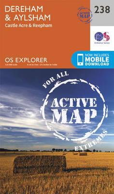 East Dereham and Aylsham - OS Explorer Map 238 (Sheet map, folded)