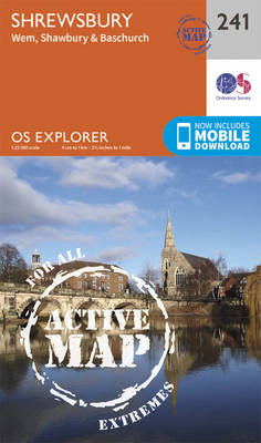 Shrewsbury - OS Explorer Map 241 (Sheet map, folded)