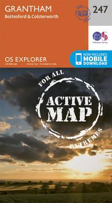 Grantham - OS Explorer Map 247 (Sheet map, folded)