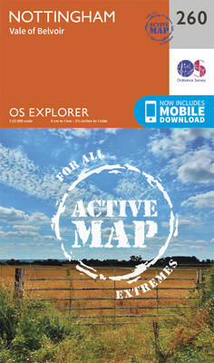 Nottingham, Vale of Belvoir - OS Explorer Map 260 (Sheet map, folded)