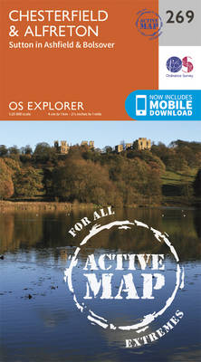 Chesterfield and Alfreton - OS Explorer Active Map 269 (Sheet map, folded)