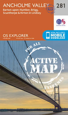 Ancholme Valley - OS Explorer Active Map 281 (Sheet map, folded)