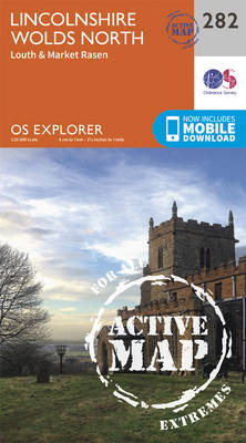 Lincolnshire Wolds North - OS Explorer Active Map 282 (Sheet map, folded)
