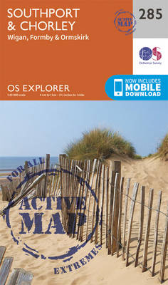 Southport and Chorley - OS Explorer Active Map 285 (Sheet map, folded)