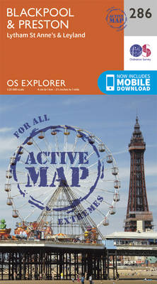 Blackpool and Preston - OS Explorer Active Map 286 (Sheet map, folded)