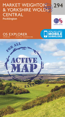 Market Weighton and Yorkshire Wolds Central - OS Explorer Active Map 294 (Sheet map, folded)