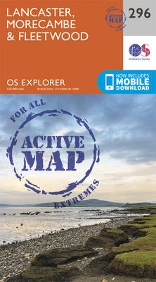 Lancaster, Morecambe and Fleetwood - OS Explorer Active Map 296 (Sheet map, folded)