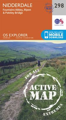 Nidderdale - OS Explorer Active Map 298 (Sheet map, folded)