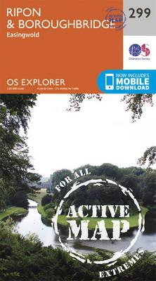 Ripon and Boroughbridge - OS Explorer Active Map 299 (Sheet map, folded)