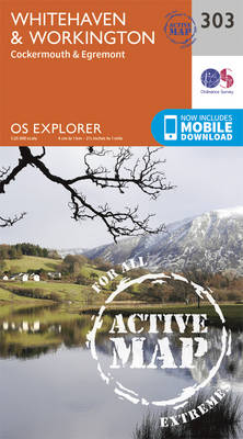 Whitehaven and Workington - OS Explorer Active Map 303 (Sheet map, folded)