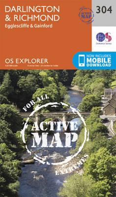 Darlington and Richmond - OS Explorer Active Map 304 (Sheet map, folded)