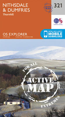 Nithsdale and Dumfries - OS Explorer Active Map 321 (Sheet map, folded)