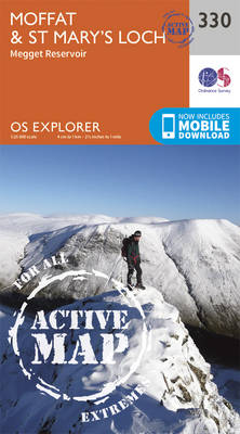 Moffat and St Mary's Loch - OS Explorer Active Map 330 (Sheet map, folded)