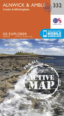 Alnwick and Amble, Craster and Whittingham - OS Explorer Active Map 332 (Sheet map, folded)