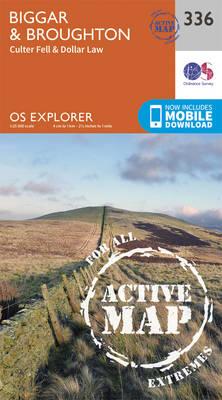 Biggar and Broughton - OS Explorer Active Map 336 (Sheet map, folded)