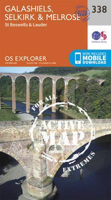 Galashiels, Selkirk and Melrose - OS Explorer Active Map 338 (Sheet map, folded)