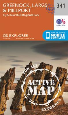 Greenock, Largs and Millport - OS Explorer Active Map 341 (Sheet map, folded)