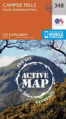 Campsie Fells - OS Explorer Active Map 348 (Sheet map, folded)
