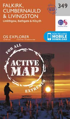Falkirk, Cumbernauld and Livingstone - OS Explorer Active Map 349 (Sheet map, folded)
